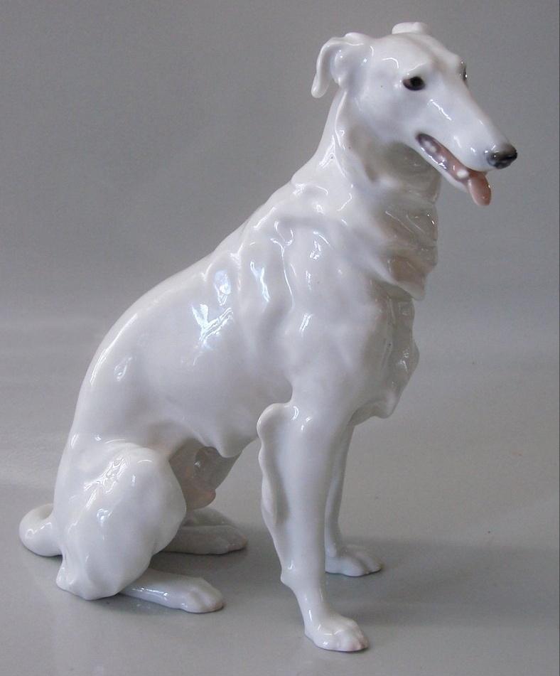 statue Figurine Russian borzoi ceramic Russian Wolfhound Dog statuette