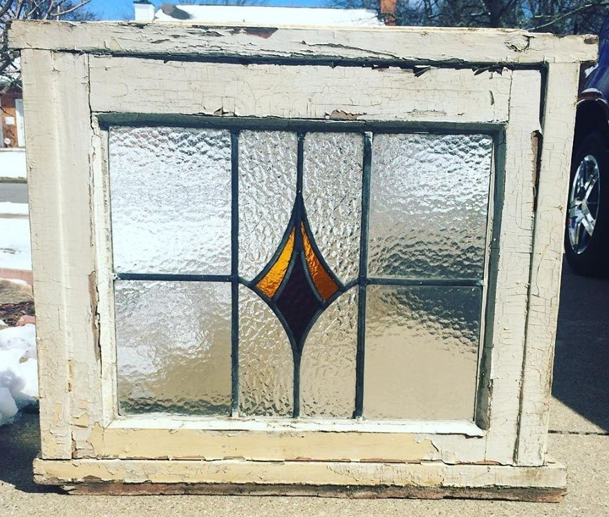 antique stained glass windows Antique Stain Glass Window in Original Frame | Collectors Weekly antique stained glass windows