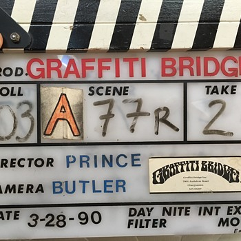 Movie slate from Graffiti Bridge
