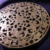 Webster Co Sterling over Glass trivet