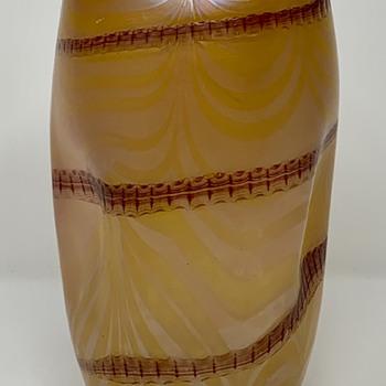 Pallme-Koenig Banded Vase, ca. 1900-1910 - Art Glass