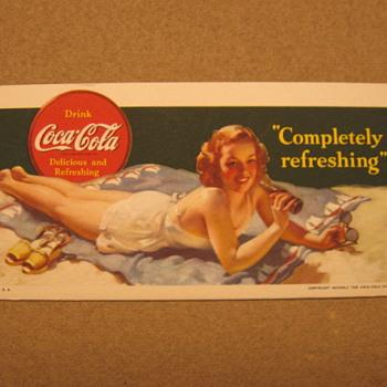 1940's Coca-Cola Blotter......maybe???? - Coca-Cola