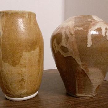Lovely Studio Art Pottery Vases by DM??? - Pottery