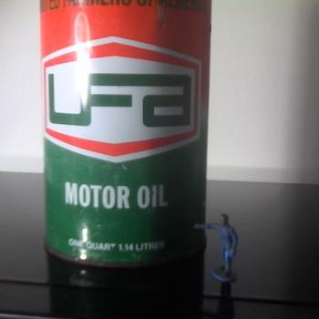 UFA Motor Oil Tin - Petroliana