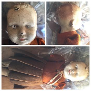 Vintage Stuffed Doll Found in Toy Chest Under basement steps - Dolls