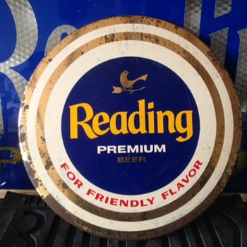 Reading Premium Beer Button Sign - Breweriana