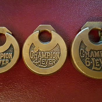 Champion Push Key Lever Padlocks - Tools and Hardware
