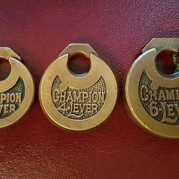 Champion Push Key Lever Padlocks