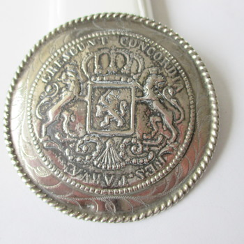 Large Dutch silver brooch  - Fine Jewelry