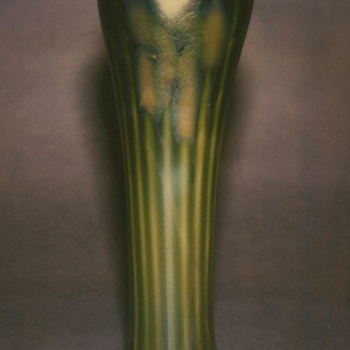 QUEZAL DECORATED ART GLASS VASE, circa 1905 - Art Glass