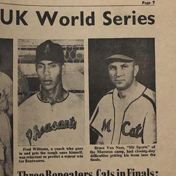 1956 UK Baseball World Series - Baseball