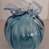 James Dodson Hand blown Blue Glass bud vase