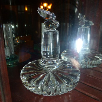 Cut crystal decanter stopper
