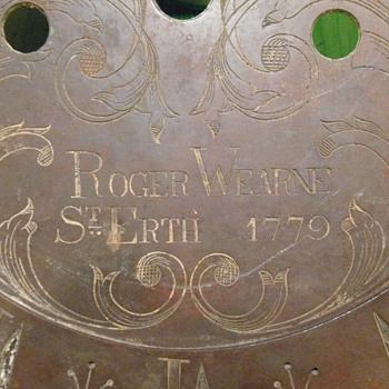 1779 Roger Wearne St Erth Clock Face - Clocks