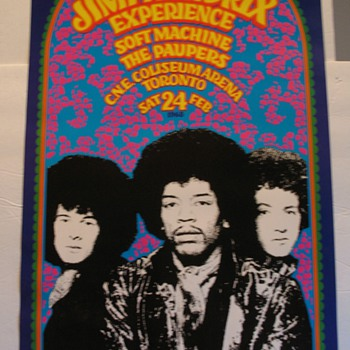 JIMI HENDRIX EXPERIENCE Psychedelic Poster GARY GRIMSHAW Tea Lautrec '88  - Posters and Prints
