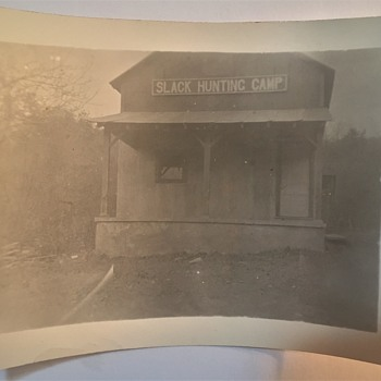 """Vintage """"Slack  Hunting Camp""""  Photographs unknow where it is?? Pennslyvania??? - Photographs"""
