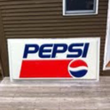 Gas station Pepsi sign