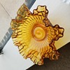 Beautiful amber glass bowl