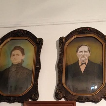 Great Grandparents' Portraits and Frames - Photographs
