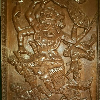 Solid Wood Carving Relief  - Fine Art