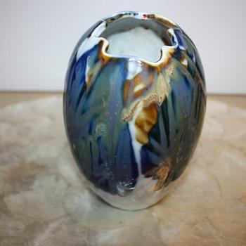 Hand Painted Vase  with Strange Maker's Mark