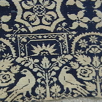 1847 Early American Jacquard Coverlet - Rugs and Textiles