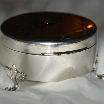Large Sterling Birks Ring Box - Silver