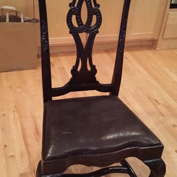Antique ball & claw foot chair - Furniture
