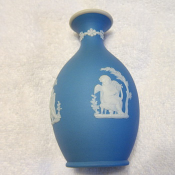 1886 - Wedgwood Blue Jasper Dip Bud Vase 'Poor Maria' - China and Dinnerware