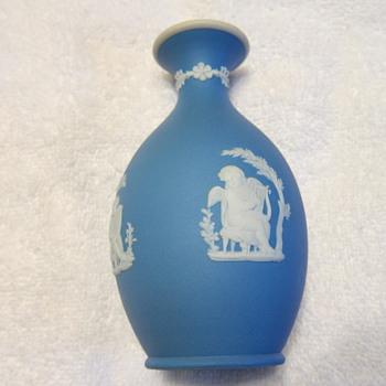 1886 - Wedgwood Blue Jasper Dip Bud Vase 'Poor Maria' - China and Dinnerware