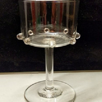 Philip Webb claret glass. - Art Glass