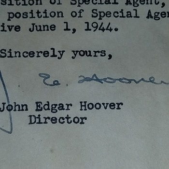 Are these J Edgar Hoover signatures authentic?