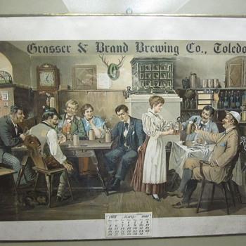 Grasser & Brand Brewing Calender - Breweriana