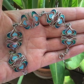 Silver Enamel Bracelet - Fine Jewelry