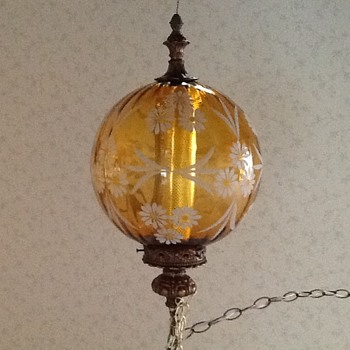 This was my Grandmas lamp . Can't find any info or pics of it. I love it and use it. The pic uploaded upside down. - Lamps
