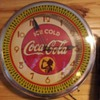 Coca Cola Silhouette Girl Neon Spinner Clock