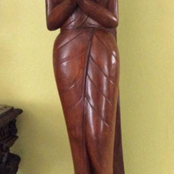 Wood asiatic god