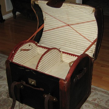 Interior Of English Made Round Top Wicker Trunk - Furniture