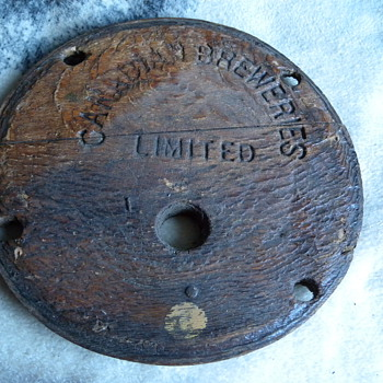 1930's Canadian Breweries Limited Barrel Lid