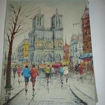 Impressionist Painting 1960's  - Fine Art