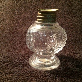 Imperial Mini Oil Lamp? Grapes & leaf pattern - Glassware