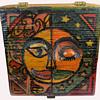 Vintage OOAK Hippie Folk Art Stash Box from Pennsylvania