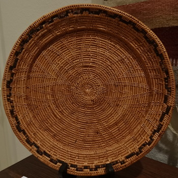 coiled basket with trim