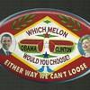 2008 Black Americana ??? Obama Hillary Pinback Button