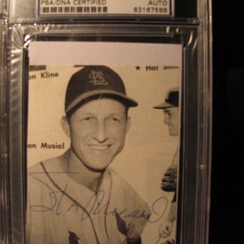 Signed Stan Musial