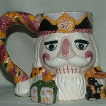 "Vintage ""Toby"" Mug~ X'mas Nutcracker"