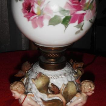 dresden coburg porcelain lamp - Lamps