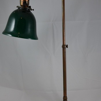 Mystery Desk Lamp Antique with Green Shade and Adjustable Height & Length Help