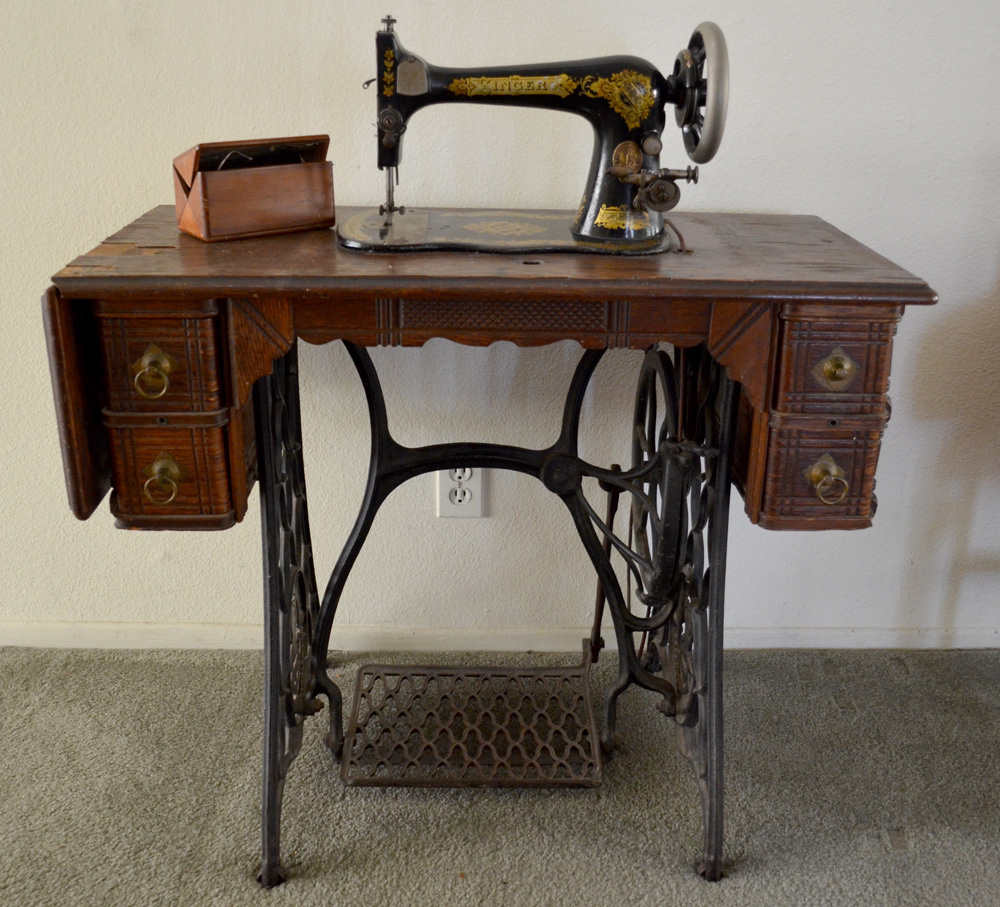 my circa 1891 singer treadle sewing machine collectors. Black Bedroom Furniture Sets. Home Design Ideas