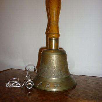 British WWII Air raid Patrol bell, and whistle 1939. - Military and Wartime